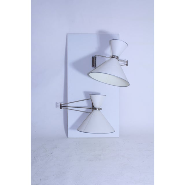 Multi Articulated Lunel Sconces For Sale - Image 4 of 8