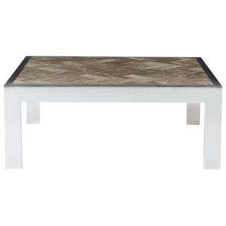 Mid-Century Modern Leon Rosen for Pace Chrome and Marble Cocktail Table For Sale