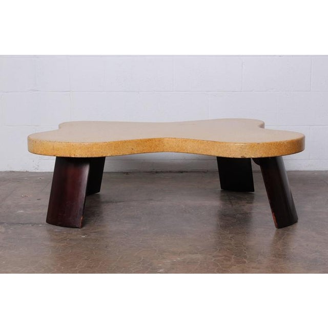 Mid-Century Modern Amoeba Cork Top Coffee Table by Paul Frankl For Sale - Image 3 of 10