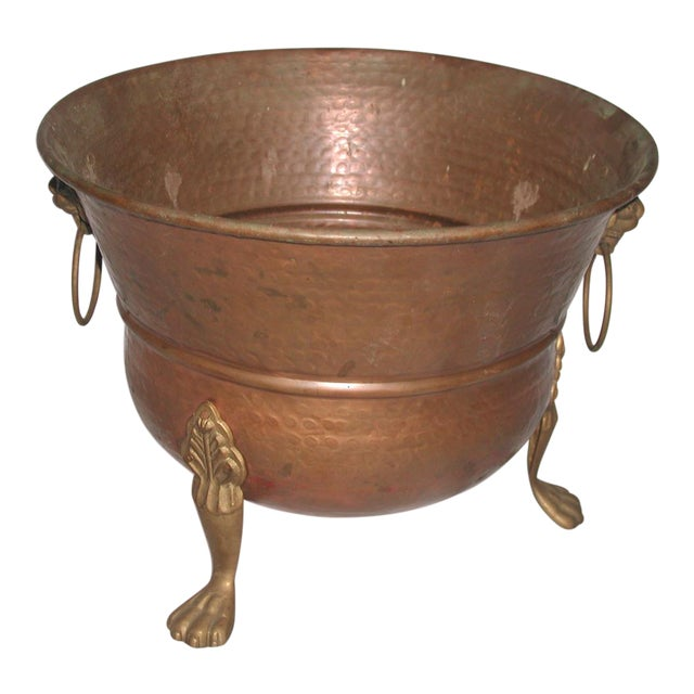 Late 20th Century Vintage Copper Planter For Sale
