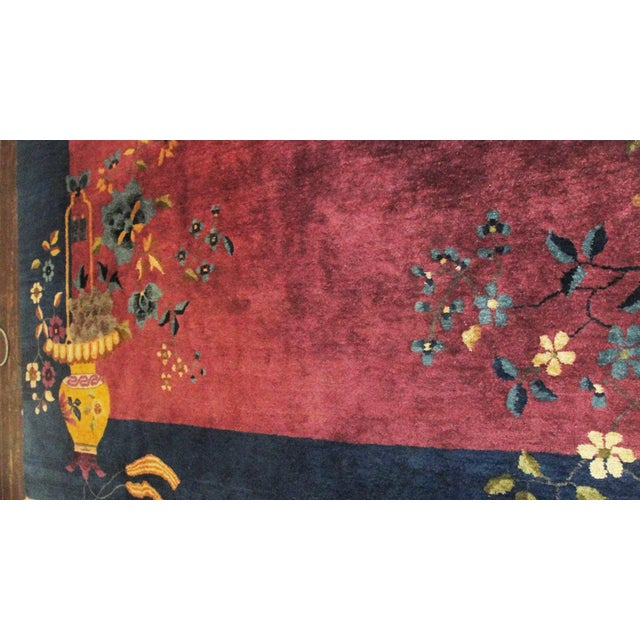 """Purple Antique Art Deco Chinese Oriental Rug-8' X 9'6"""" For Sale - Image 8 of 12"""