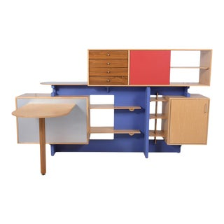 1980s Stewart MacDougall, Unique Room Divider With Desk For Sale