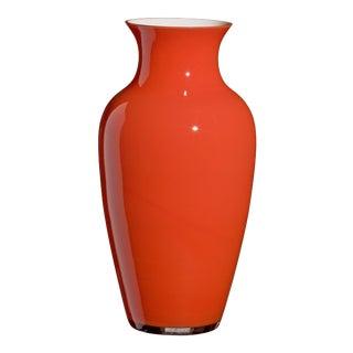Carlo Moretti Cinesi Vase in Orange For Sale