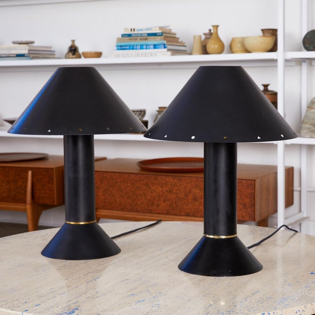 Ron Rezek Pair of Ron Rezek Table Lamps For Sale - Image 4 of 11