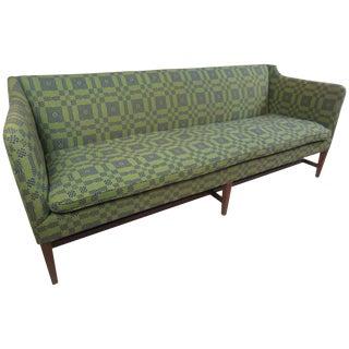 Kaare Klint Style Sofa in Folk Weave Fabric For Sale