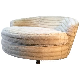 Round Lounge Chair Manner of Milo Baughman or Pearsall For Sale