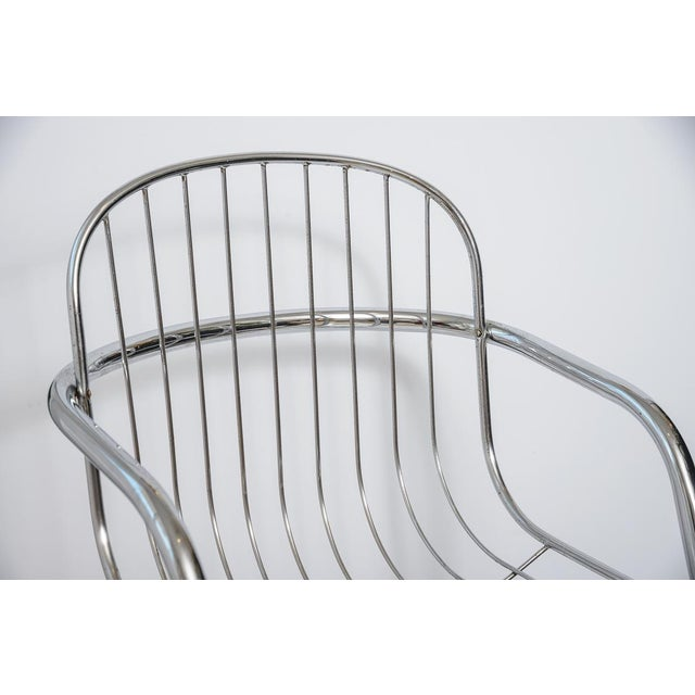 Italian Tubular Chrome Cantilever Chairs - Set of 4 For Sale - Image 4 of 10