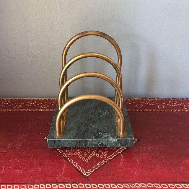 Brass & Marble Desk Organizer - Image 3 of 6