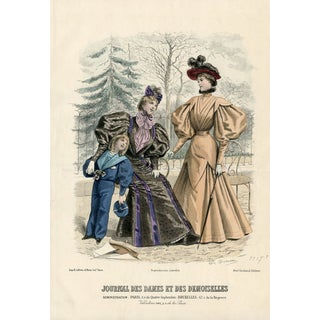 1888 French Fashion Print For Sale