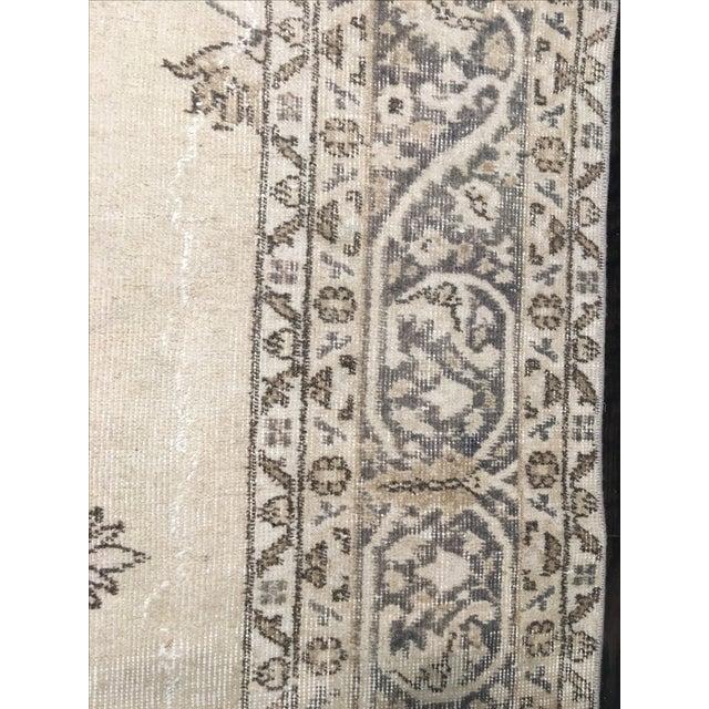 """Vintage Turkish Oushak Rug - 6'11"""" x 10'1"""" - Image 7 of 8"""