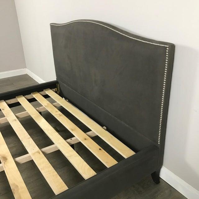 Crate & Barrel Upholstered King Bed - Image 6 of 11