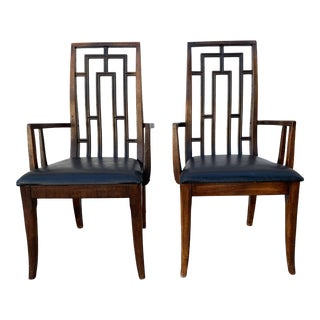 Mid-Century Modern Thomasville Pieced Dining Chairs - a Pair For Sale