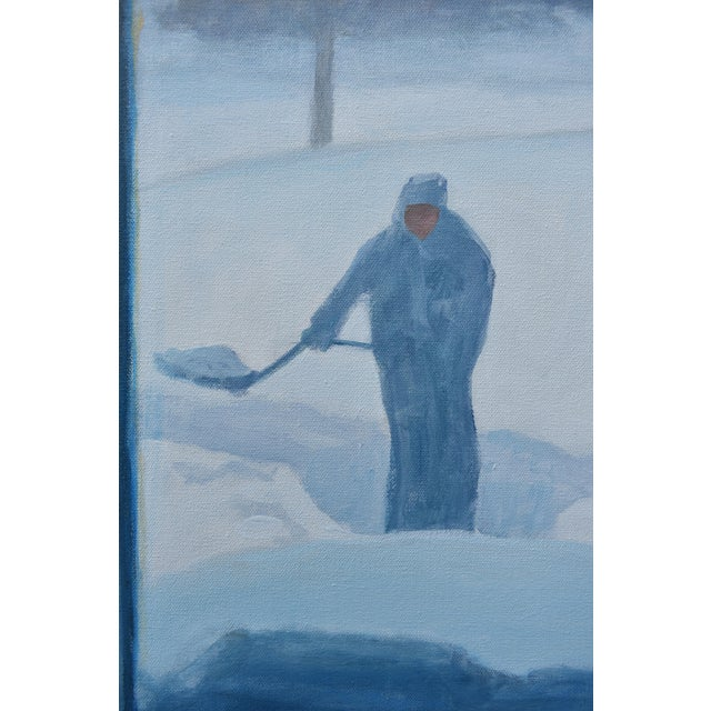 "Canvas Stephen Remick ""Shoveling Out"" Contemporary Painting For Sale - Image 7 of 12"