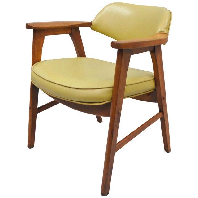 Vintage Gunlocke Mid Century Modern Danish Style Armchair Desk