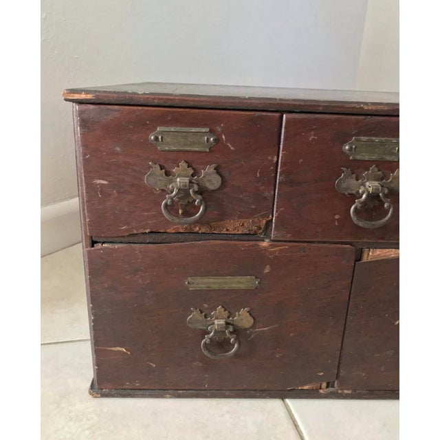 Antique ca 1800's maybe even older Chippendale Card Filing library index Cabinet with 5 drawers, in its original...