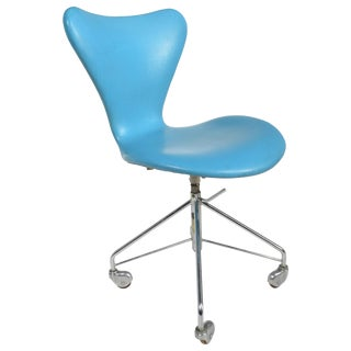 Arne Jacobsen Office Chair Model 3117 by Fritz Hansen in Denmark For Sale