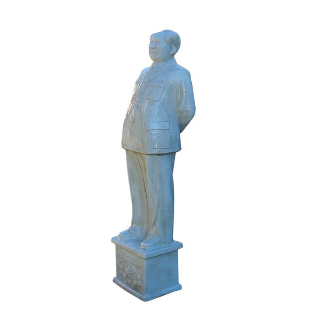 Chinese Large Porcelain White Standing Chairman Mao Figure cs1212 For Sale - Image 4 of 7