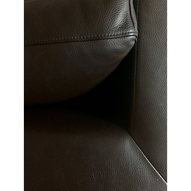 Restoration Hardware 1970s Design Modern U Chaise Sectional Leather Sofa For Sale In Los Angeles - Image 6 of 8