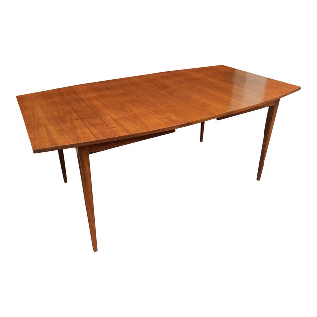 1960s Mid Century Modern Lane Bow Tie Tuxedo Dining Table For Sale