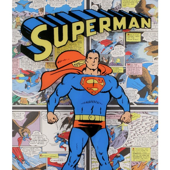 Fabulous 'Superman' shadowbox over four comic book strips pub 1974 by the National Periodical Publications in its'...