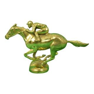 Brass Racing Horse Gilt Bronze Car Mascot For Sale