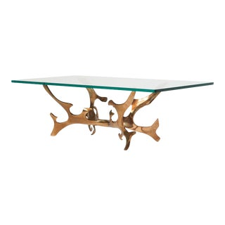 Sculptural Bronze Coffee Table by Fred Brouard For Sale