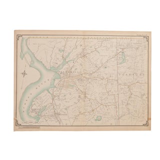 Antique Peekskill, Cortlandt, Yorktown New York Map For Sale