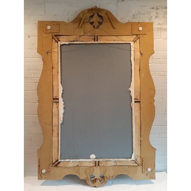 Wood Italian Florentine Gilt Wood Mirror For Sale - Image 7 of 10