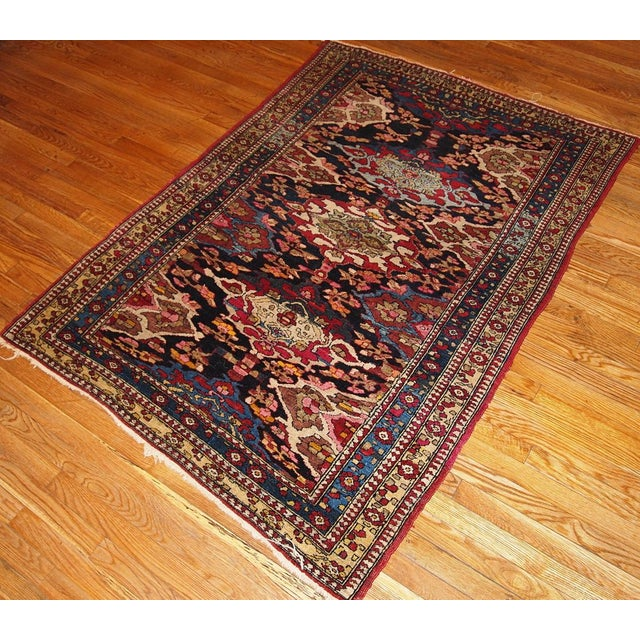 Antique Persian Isfahan Rug - 4′3″ × 6′ - Image 2 of 7
