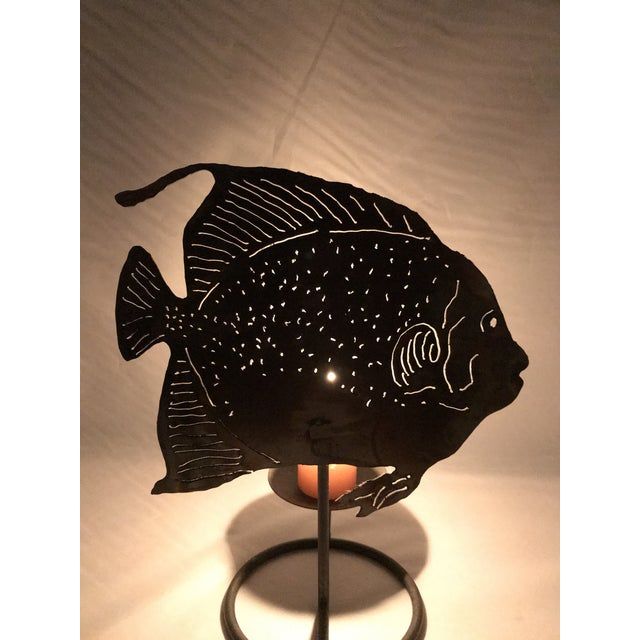 Late 20th Century Brutalist Metal Fish Candle Holder - the Pair For Sale - Image 5 of 13