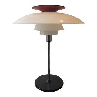 1970s Louis Poulsen Red Table Lamp For Sale