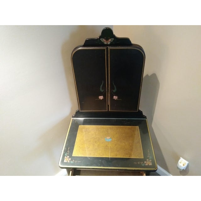 Rare + Hard to find Stickley Bros. Vanity w/ tri fold mirror & chair - All original paint circa 1930s - Quaint American...