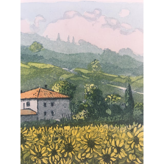 Vintage Italian Watercolor Print For Sale - Image 4 of 8