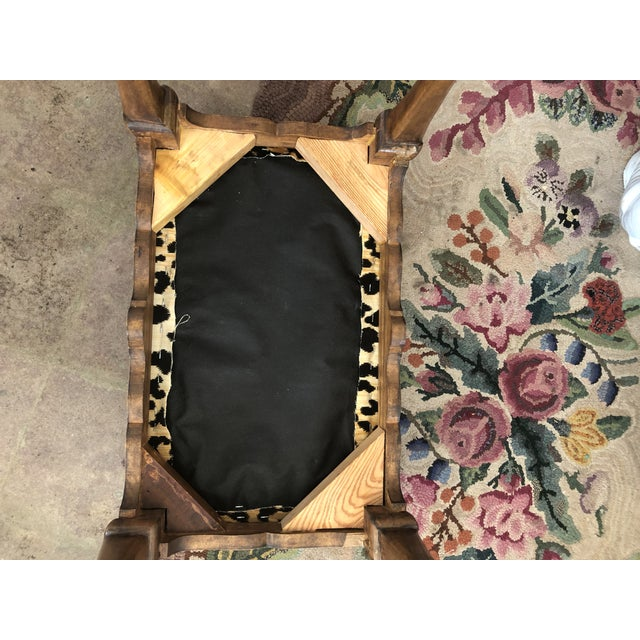 Early 1900s Traditional Leopard Print Low Stool For Sale - Image 9 of 10