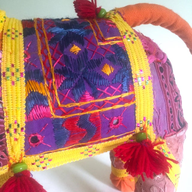 Vintage Indian Patchwork Elephant Figurine For Sale In New York - Image 6 of 11