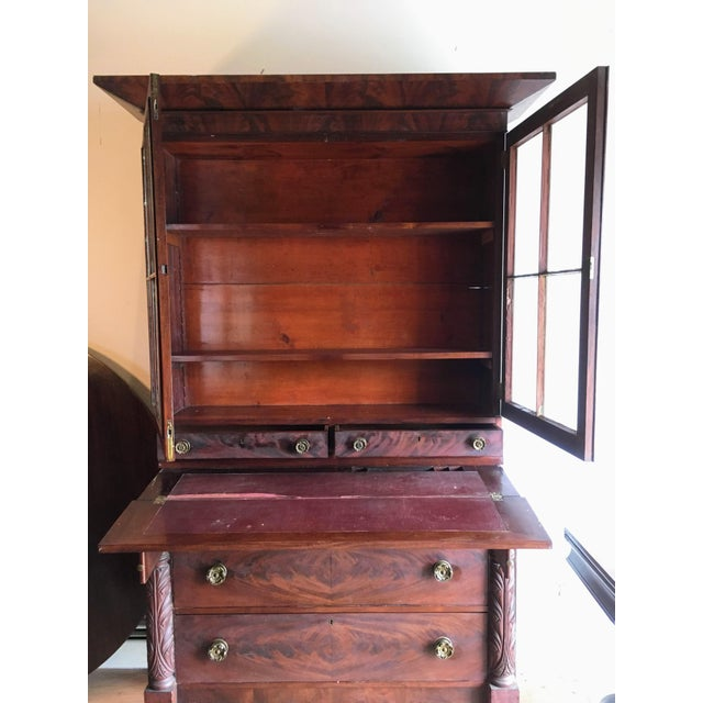 Empire American Empire Secretary With Glass Door For Sale - Image 3 of 11