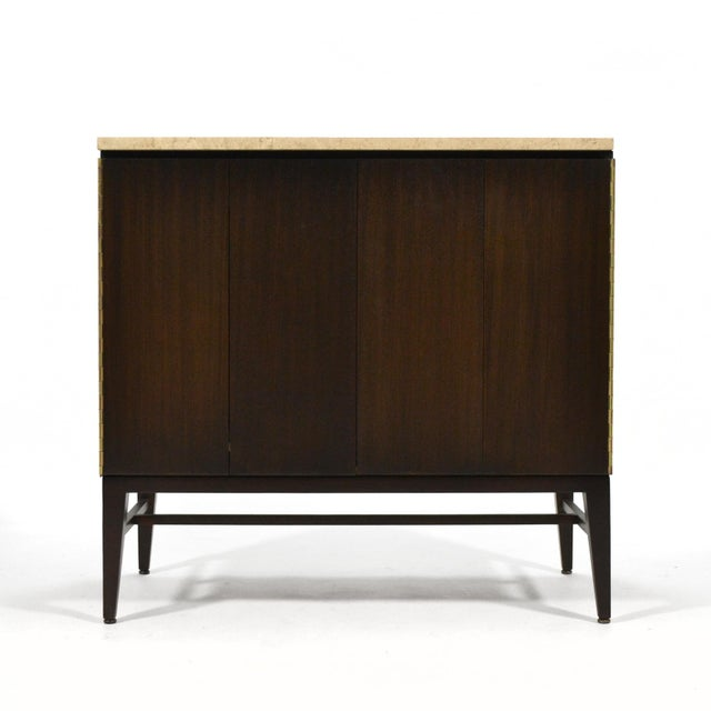 Paul McCobb Cabinets/ Credenzas with TravertineTops by Calvin For Sale In Chicago - Image 6 of 11
