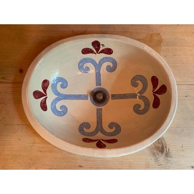 Farmhouse Custom Pine 3-Drawer Bathroom Vanity With Talavera Sink For Sale - Image 3 of 13