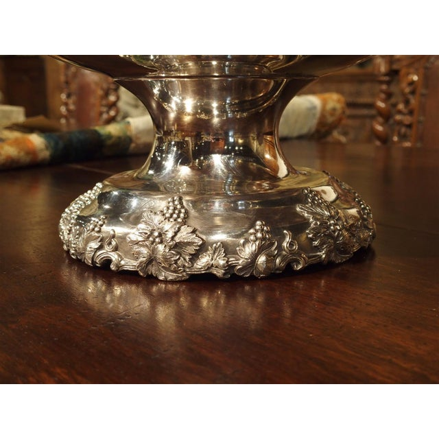 Traditional A Circa 1900 Silver Plated Punch Bowl and Tray For Sale - Image 3 of 11