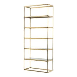 5 Shelf Brass Cabinet | Eichholtz Omega For Sale