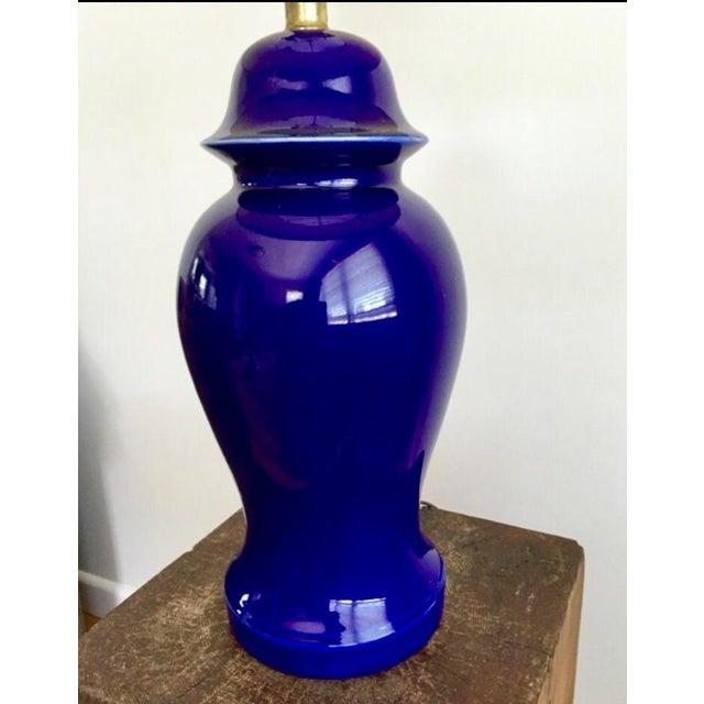 Vintage Blue Porcelain Table Lamp - Image 4 of 6