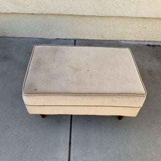 Midcentury Upholstered Ottoman Footstool Preview