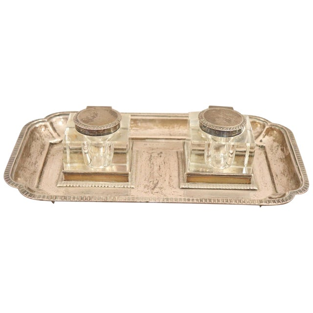 19th Century Silver Inkwell by j.g &S John Grinsell & Sons, London 1897 For Sale