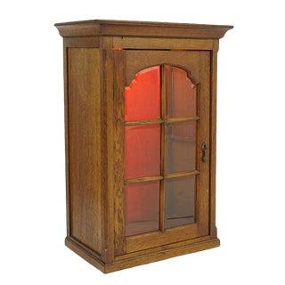 Antique Oak Display Cabinet For Sale