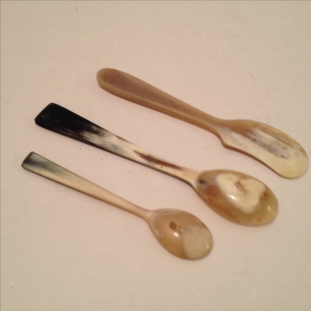 Vintage Bone Kitchen Utensils - Set of 3 For Sale - Image 4 of 5