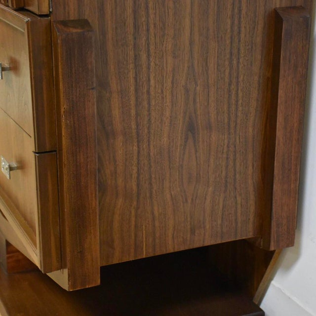 Brutalist Walnut Armoire - Image 8 of 11
