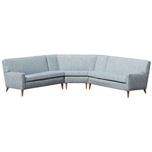 Paul McCobb Sectional Corner Sofa Custom Craft/ Planner Group Newly Upholstered For Sale - Image 13 of 13