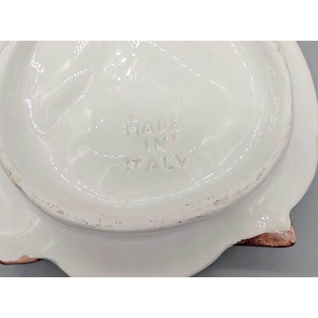 20th Century Majolica Italian Green Onion Platter For Sale - Image 9 of 11