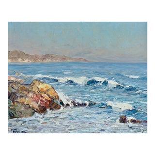 Saint Maxime Andre Beronneau Impressionist Oil Painting For Sale