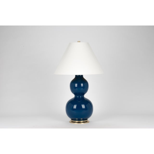 Contemporary Natalie Lamp in Midnight Blue / Polished Brass - Christopher Spitzmiller for The Lacquer Company For Sale - Image 3 of 3